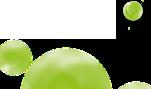 des bulles vertes